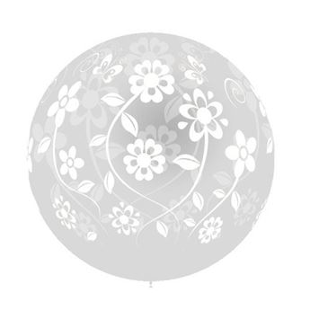 Picture of Globo transparente flores 90cm