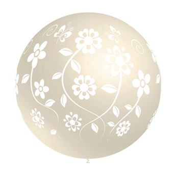 Picture of Globo marfil flores 90cm