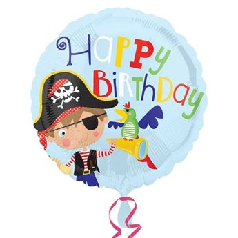 Imagen de Globo círculo pirata Happy Birthday