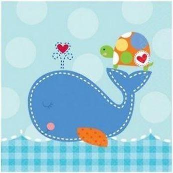Imagen de Servilletas bebé azul pequeñas (16)