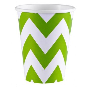 Picture of Vasos chevron verde claro (8)