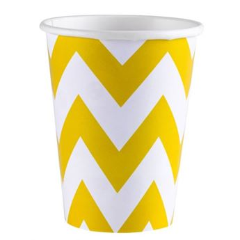 Picture of Vasos chevron amarillo (8)