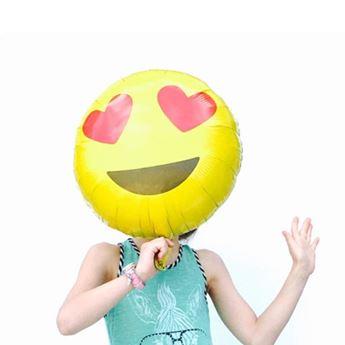 Picture of Globo emoji enamorado 46cm