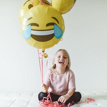 Imagen de Globo emoji llorando de risa 46cm