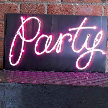 Imagens de Letrero Party con luz