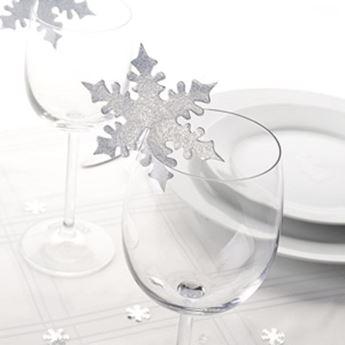 Imagen de Decoraciones vasos copo de nieve (10)