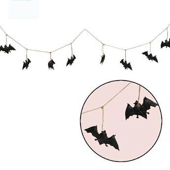 Imagen de Guirnalda murciélagos plástico 1,8mts