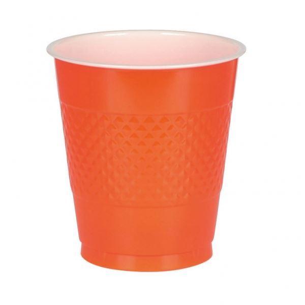 Vasos naranja pl stico 10 fiestafacil tienda online de for Vasos para bar