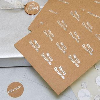 Imagen de Etiquetas adhesivas Navidad plata (36)