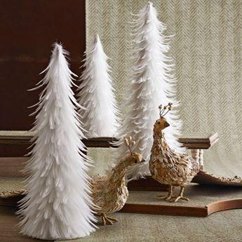 Imagen de Árbol de Navidad plumas 32cm