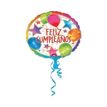 Imagen de Globo feliz cumpleaños palito