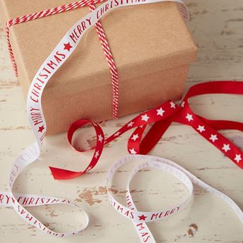 Picture of Cinta tela regalos Navidad clásica (3)