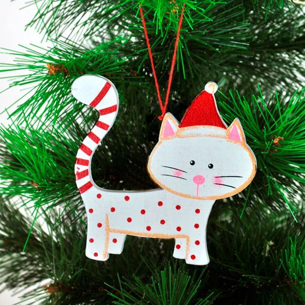imagen de adorno navidad rbol gato
