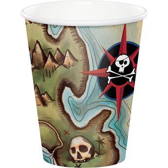 Imagen de Vasos Mapa Pirata (8)