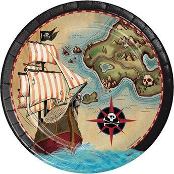 Imagen de Platos Mapa Pirata grandes (8)