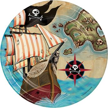Imagen de Platos Mapa Pirata pequeños (8)