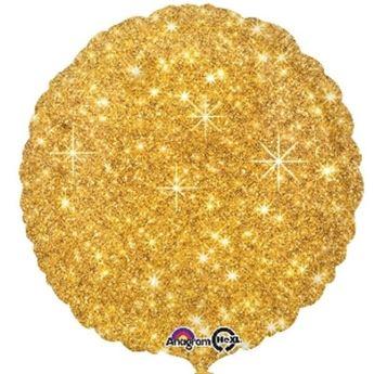 Imagen de Globo círculo brillante oro