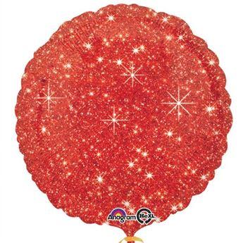 Imagen de Globo círculo brillante rojo