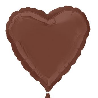Imagen de Globo corazón chocolate