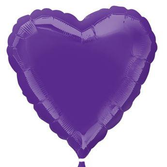Imagen de Globo corazón púrpura