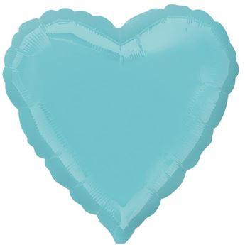Imagen de Globo corazon azul caribe