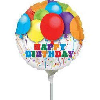 Imagen de Globo feliz cumpleaños globos palito