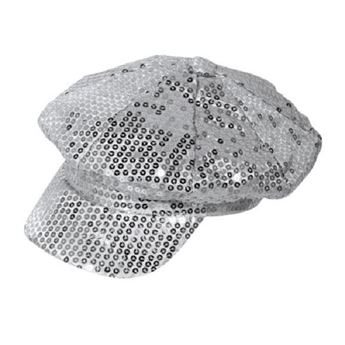 Picture of Gorra lentejuelas plata Disco