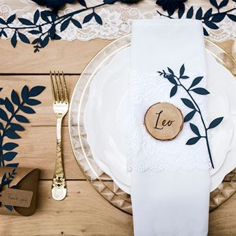 Imagen de Ramas decoración papel azul marino (9)