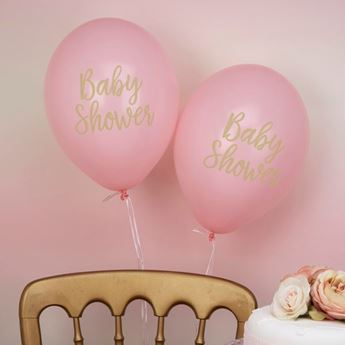 Picture of Globos baby shower rosa (8)