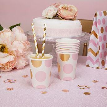 Picture of Vasos lunares rosa y dorado (8)