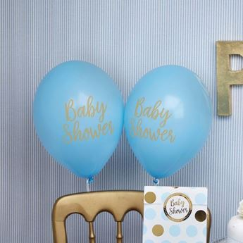 Picture of Globos baby shower azul (8)