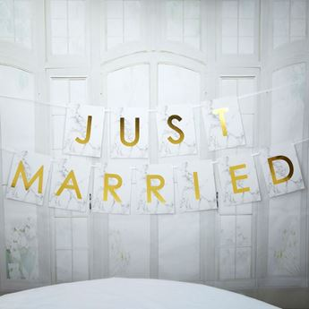 Imagen de Banderin boda Just Married