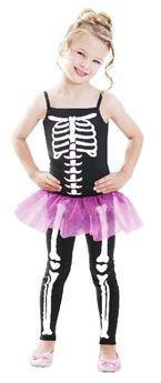 Imagens de Disfraz esqueleto niña