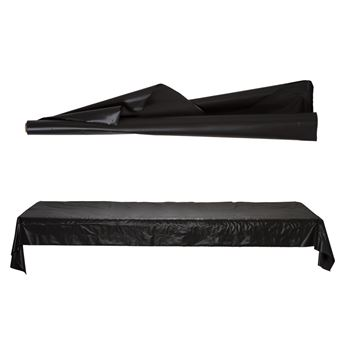 Imagens de Mantel en rollo plastico negro 30m