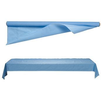 Imagens de Mantel en rollo plastico Azul pastel 30m