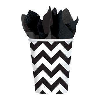 Picture of Vasos chevron negro (8)