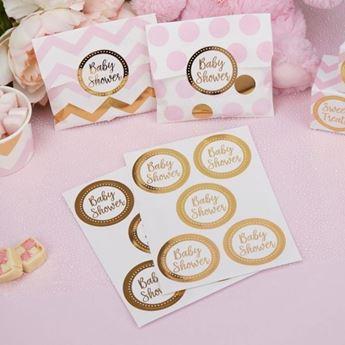 Imagens de Etiquetas adhesivas baby shower dorado (25)