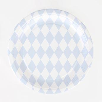 Imagen de Platos diamante azul pastel (8)