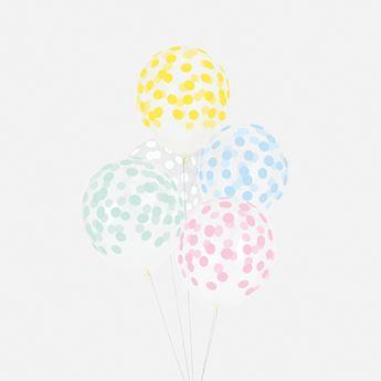 Imagen de Globos confeti colores pastel (5)