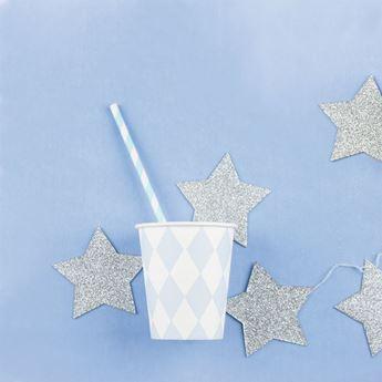 Imagen de Vasos diamante azul pastel (8)