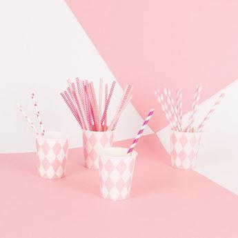 Imagen de Vasos diamante rosa pastel (8)
