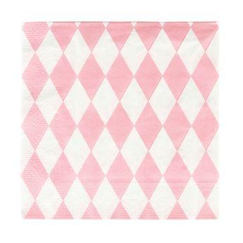 Imagen de Servilletas diamante rosa pastel (20)