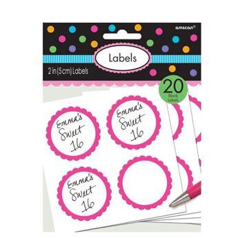 Imagen de Etiquetas adhesivas rosa chicle (20)