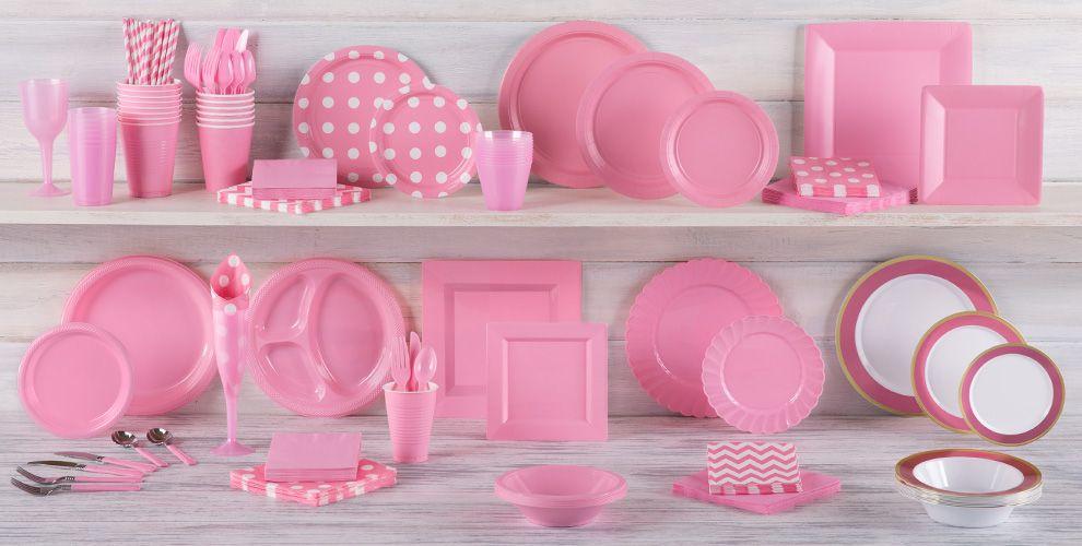 Decoraci n fiesta color rosa online env o en 24 horas for Accesorios decoracion online