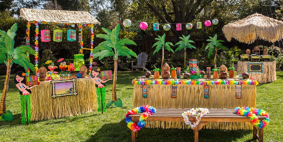 Decoración Para Fiesta Tropical Hawaiana Ideas Originales