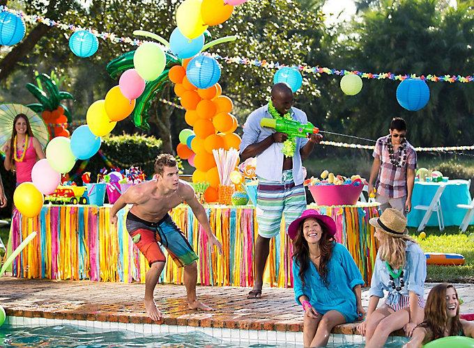 Decoraci n fiesta playa o piscina online env o en 24 - Fiesta de piscina ...