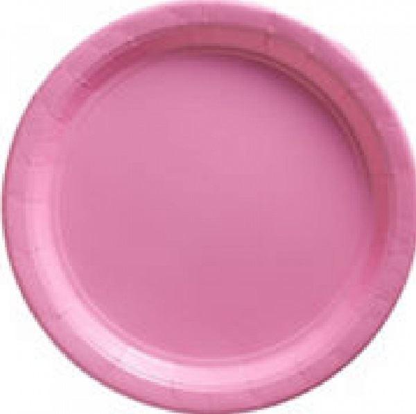 Picture of Platos rosa pastel de cartón grandes (8)