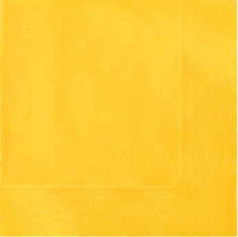 Imagen de Servilletas amarillas grandes (20)