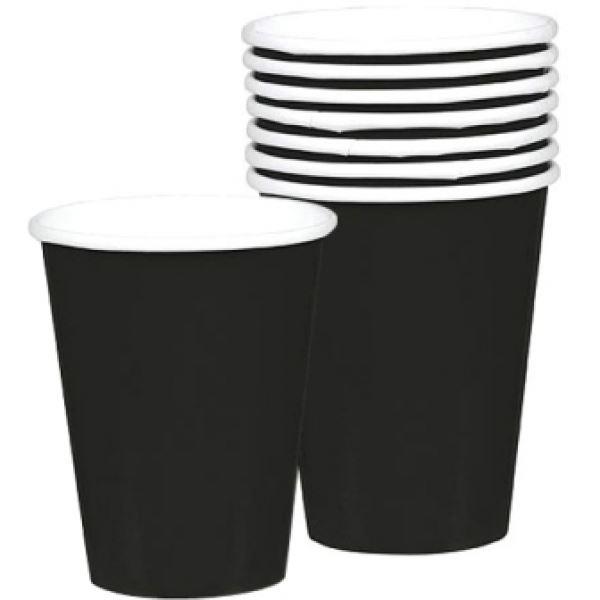 Picture of Vasos negros de cartón (8)