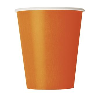 Imagen de Vasos naranja de cartón (8)